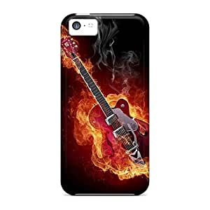 Mwaerke Scratch-free Phone Case for iphone 6 4.7- Retail Packaging - Hot Guitar