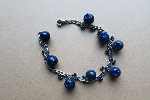 Blueberry Bracelet - Small blueberries - Fruit Jewelry - Miniature Food ()