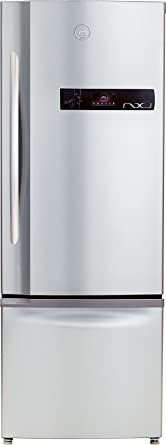 Godrej 380 L 2 Star Frost Free Double Door Refrigerator(RBEON NXW 380 SD 2.4, Inox, Bottom Freezer)