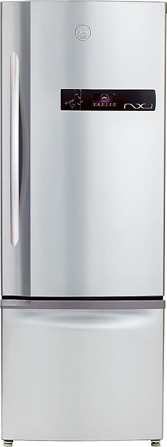 Godrej 380 L 2 Star Frost Free Double Door Refrigerator RBEON NXW 380 SD 2.4, Inox, Bottom Freezer  Refrigerators