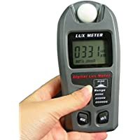 Leaton Digital Luxmeter / Digital Illuminance Light Meter lux meter with LCD Display(Range: 0.1~200,000 Lux Luxmeter, 0.01~20,000Fc)