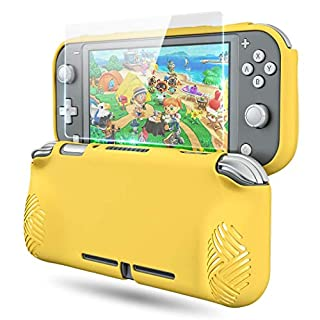 Protective Case Cover for Nintendo Switch Lite, OIVO Soft TPU Protective Grip Skin Cover for Nintendo Switch Lite- Glass Screen Protector Included
