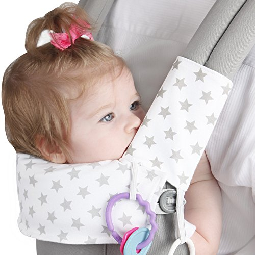 Ergo Teething Pad w/ Organic K'un Filled Bamboo Fibers + Cotton - Drool Pads for Ergobaby ADAPT Carriers by Baby Preferred
