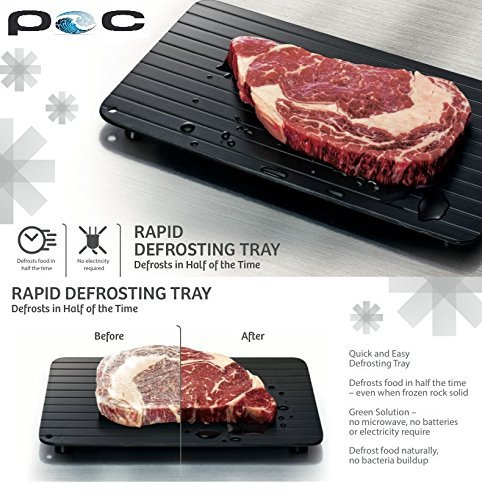 Fairbridge FBCN001 Fast Tray The The Safest Way to Defrost Meat or Frozen Food Quickly Without Electricity, Microwave, Hot Water or Any Other or Any Other, Small (The Best Way To Defrost Meat)