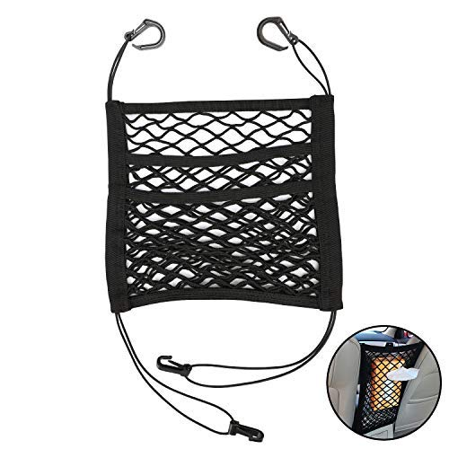 Legend Sandy Dog Barrier for Car, Stretchable Front Seat Pet Barrier for SUV Upgraded 2-Layer Universal Pet Net Barrier with Storage, Pet Barrier for Car Disturb Stopper from Pets and Children