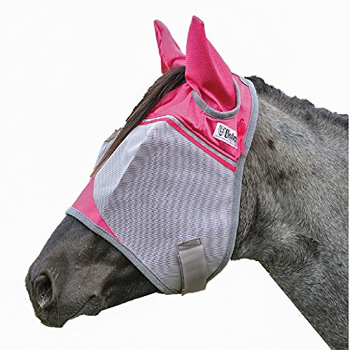 Cashel Crusader Fly Mask with Pink Ears, Benefits Breast Cancer - Size: Horse