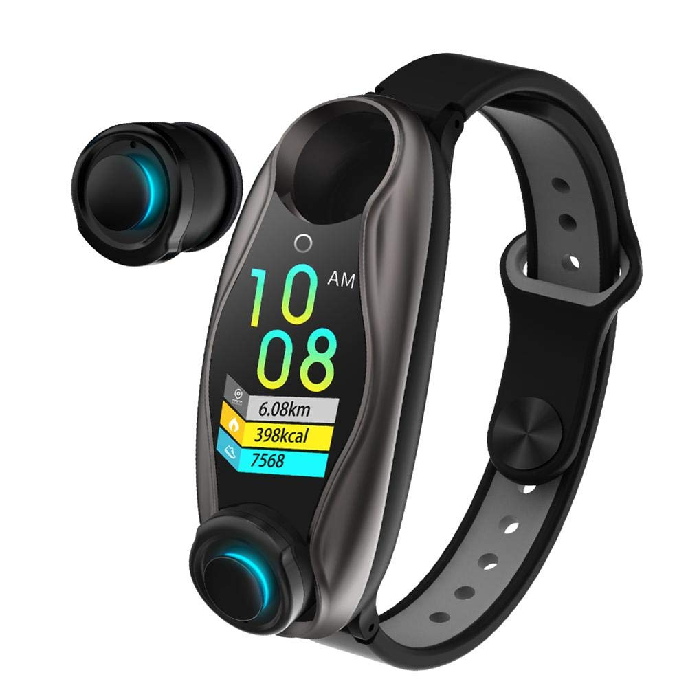 Lijuan Qin LT04 Smart Bracelet Built-in Bluetooth 5.0 Dual Headset, One Device Two Functions, Smart Wear New Experience, Compatible with Most Mobile Phones by Lijuan Qin