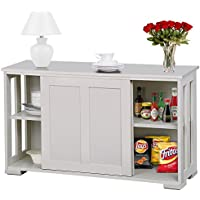 go2buy Antique White Stackable Sideboard Buffet Storage...