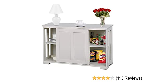 Amazon.com - go2buy Antique White Stackable Sideboard Buffet Storage  Cabinet with Sliding Door Kitchen Dining Room Furniture - Buffets &  Sideboards - Amazon.com - Go2buy Antique White Stackable Sideboard Buffet Storage