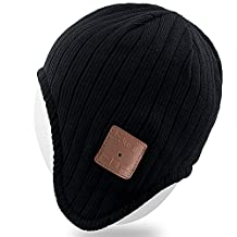 Rotibox Bluetooth Hat, Winter Outdoor Premium Knit Cap with Wireless Stereo Headphone Headset Earphone Speaker Mic Hands applicable to skiing, hiking, running, Christmas Gifts