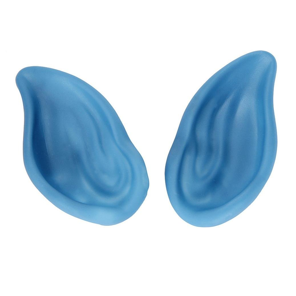 XILALU Funny 1Pair Pointed Fairy Elf Cosplay Halloween Costume Ear Tips (Blue)