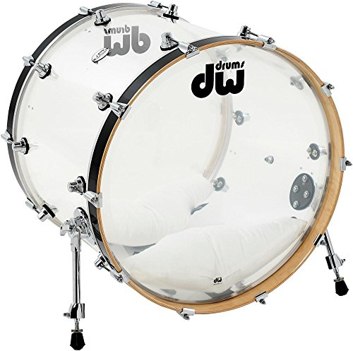 "DW Design Series Clear Acrylic Bass Drum - 18"" x 22"""