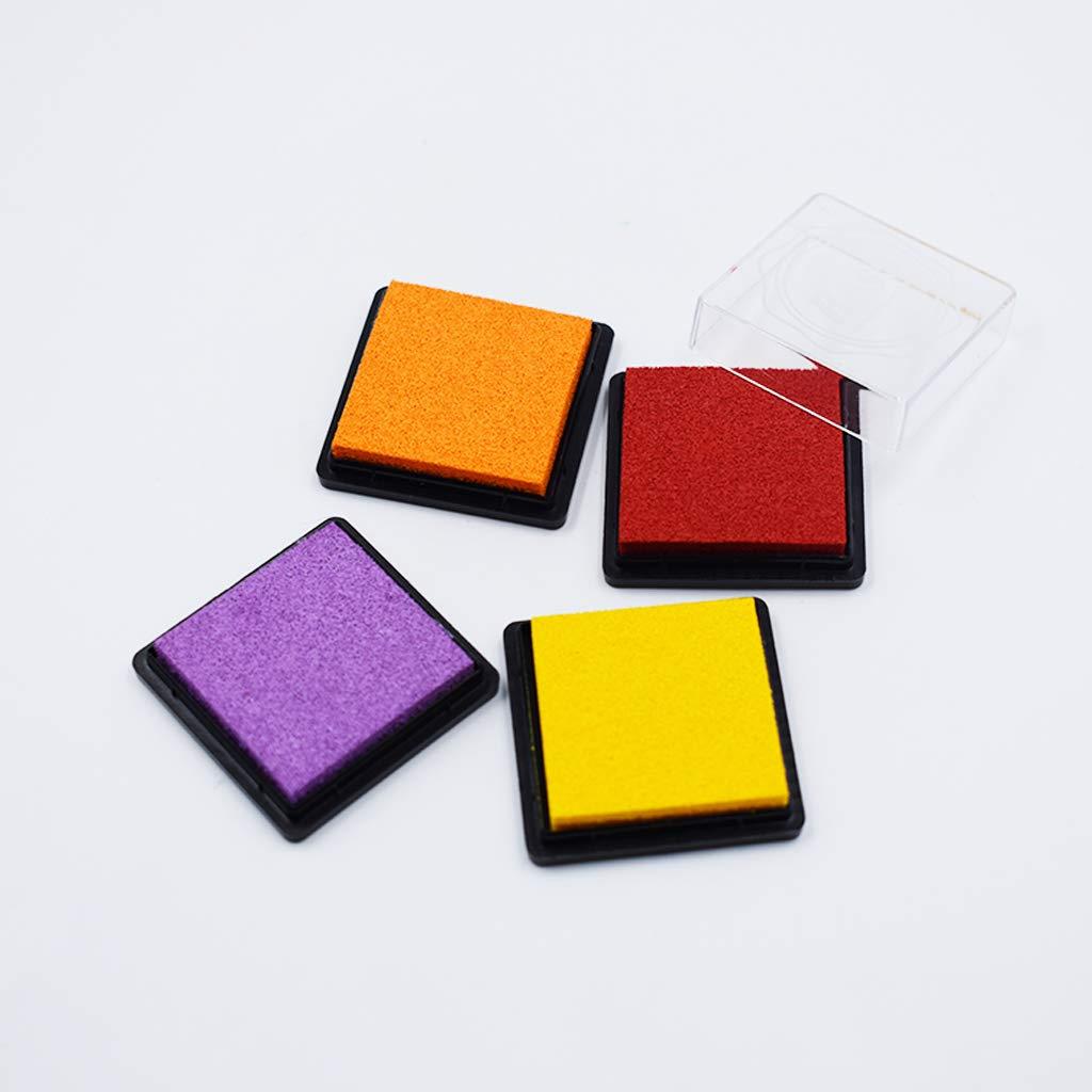Ogquaton 1 Establezca el Kit de Almohadilla de Tinta Colorida Huella Digital Tinta Almohadilla Sello de Tinta Creativo DIY Craft Supplies Ideal para Scrapbooking y Tarjeta de decoraci/ón