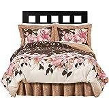 Collections Etc Capri Floral Bedroom Comforter Set - 4 pc, Twin, Multi