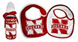 NCAA Nebraska Cornhuskers Infant Bottle and 2 Pack Bib Set