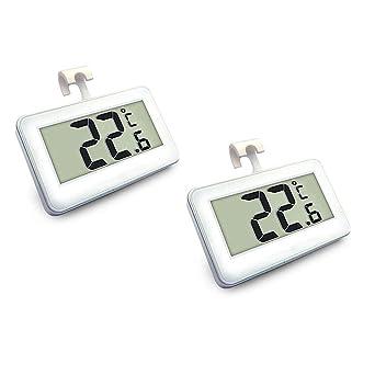 Termómetro para nevera, 2 unidades, termómetro digital para congelador, impermeable, para frigorífico