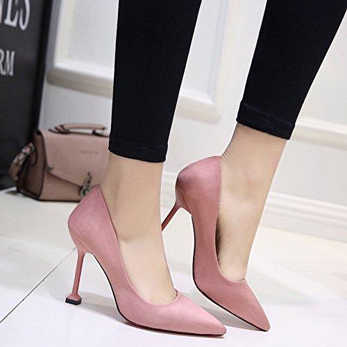 HRCxue Satin Schuhe mit hohen Absätzen matt feine professionelle Schuhe Schuhe für Frauen singles Schuhe Schuhe 39 b4f1bb