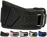 "Fire Team Fit lifting belt women, fire team weightlifting belt, womens weightlifting belt, weight lifting belt for women, belt lifting (Black, 38"" - 43"" Around Navel, Large)"