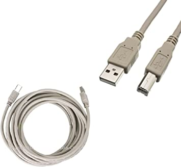 25FT 25FEET USB 2.0 Cable A TO B HIGH SPEED PRINTER SCANNER CABLE CORD Grey