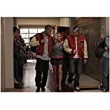 Kristin Chenoweth 8 Inch x 10 Inch PHOTOGRAPH Glee (TV Series 2009 - 2015) Walking Between Dijon Talton & Mark Salling Pose 2 kn