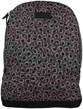 f6113c60f320 Gucci Unisex Dark Leopard Print Gray/Brown Canvas Backpack Luggage Bag  353476 1186