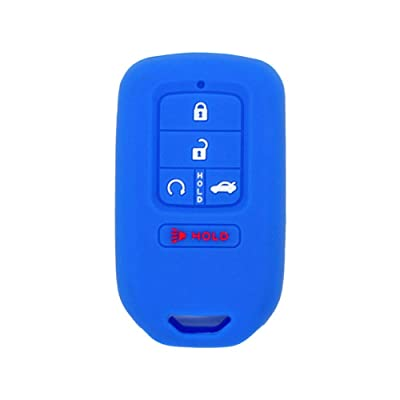 SEGADEN Silicone Cover Protector Case Skin Jacket fit for HONDA 4+1 Hold Button 5 Buttons Smart Remote Key Fob CV4211 Deep Blue: Automotive