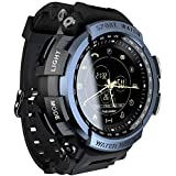 LOKMAT Sports Anolog Digital Smart Watch Men Boys Waterproof Bluetooth Smart Wrist Watch, Smartwatch Walking Calories,Remote Camera, Call/SNS/SMS Reminder iOS Android Smartphone (Blue)