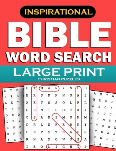 Bible Word Search: Large Print Christian Puzzles: Inspirational Word Find Puzzles for Kids, Teens, Adults and Seniors (Bible Activity Books) (Volume 3)