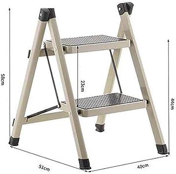 2 Paso Portátil Escalera,compacto Mini Escaleras De Mano Antideslizante Ligero Multiusos Plegables Escalera Para El Hogar Cocina Oficina-gris: Amazon.es: Bricolaje y herramientas