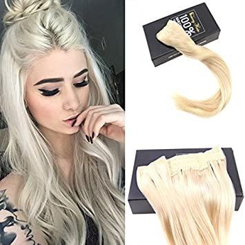 Amazon Com Sunny 16inch Platinum Blonde Color 60 Wire Halo Hair
