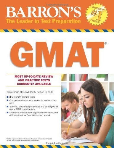 Barron's GMAT 18th edition by Bobby Umar, Carl S. Pyrdum III (2014) Paperback