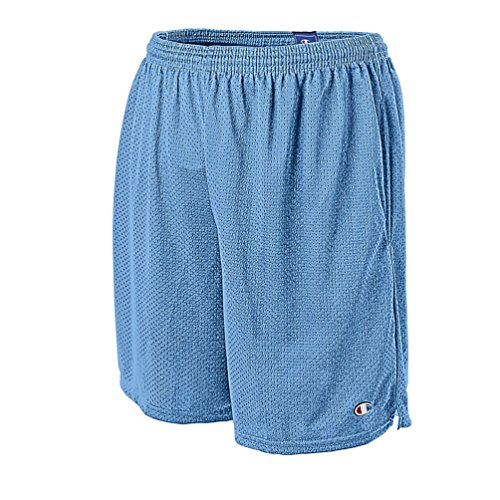 Champion Long Mesh Men's Shorts with Pockets (Medium, Swiss Blue)