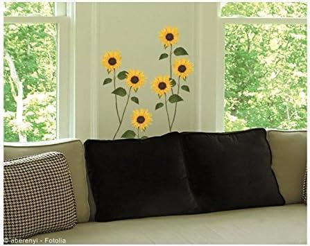 Plage Adhesive Decoration Sunflowers Polyvinyl Yellow 21/x 0.1/x 29.6/cm