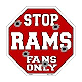 Smart Blonde Rams Fans Only Metal Novelty Octagon Stop Sign Bs-203