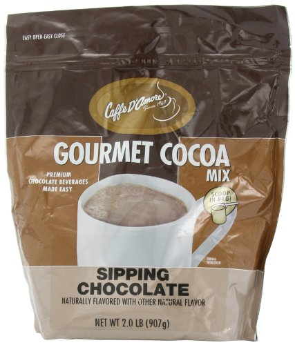 Sipping Cocoa - Caffe D'Amore Gourmet Cocoa Mix, Sipping Chocolate, 2-Pound