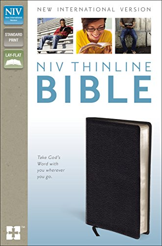 NIV, Thinline Bible, Bonded Leather, Black, Red Letter Edition Samuel Black Bonded Leather