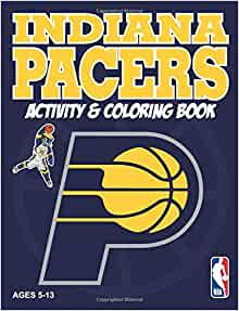 Indiana pacers activity coloring book sports activity for Indiana pacers coloring pages