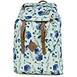 The Pack Society Sac à dos loisir, Off White Blue Flower Allover (Multicolore)6101703