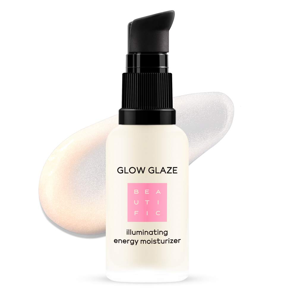 BEAUTIFIC Illuminating Face Moisturizer And Primer | GLOW GLAZE | Energy Face Cream For Radiant Hydrated Skin | Moisturizing Makeup Primer With Radiant Minerals For Perfect Look, 1 fl.oz