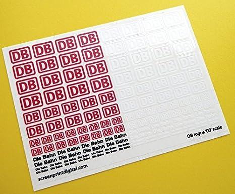 Db Würfel Bahn Deutsche Federal Railways Logo 00 Skala Zu Messen Sticker Aufkleber