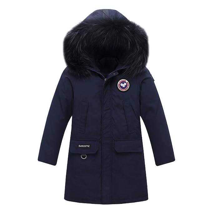 YFCH Piumino Invernale Piumino per Ragazza Giacca Bambina Impermeabile  Piumino Lungo Cappuccio Cappotto Bambina Snowsuit per Bambini 5-13 Anni   Amazon.it  ... 4977743096fc