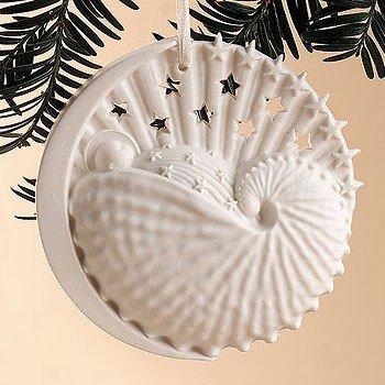 Margaret Furlong Babys First Christmas Made in USA Porcelain Roundel Ornament
