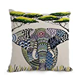 elegancebeauty 12 x 20 inches / 30 by 50 cm Elephant cushion covers ,2 sides ornament and gift to couch,shop,valentine,birthday,dining room,seat