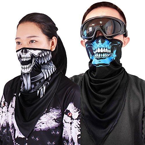 Quick-Dry Half Masks KINGREE Skull-15 Motorcycle Helmets Liner Neck Gaiter Balaclava Ski Mask
