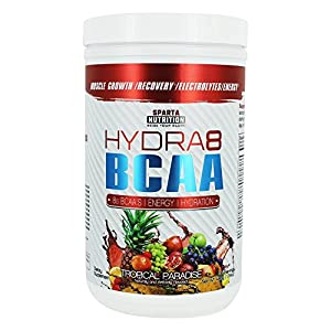 Sparta Nutrition HYDRA8 BCAA: Best Tasting BCAA Powder and Amino Energy Supplement, Intra-Workout / Post-Workout Drink, Increased Muscle Recovery, Muscle Builder, Tropical Paradise, 30 Servings
