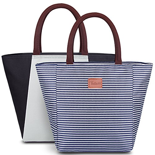LIGHTENING DEAL! TOP RATED SET OF 2 INSULATED WOMEN'S LUNCH TOTE BAG!