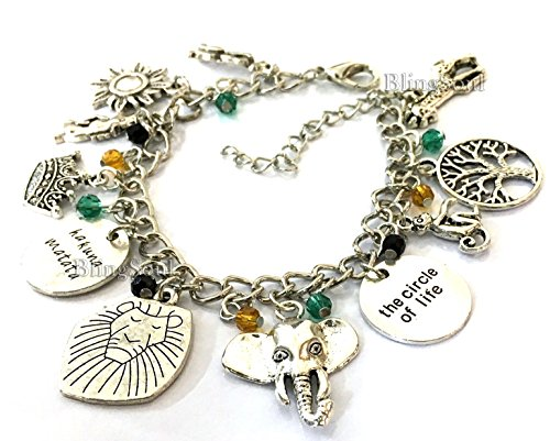 Christmas Themed Costume Idea (11 Themed Lion King Charm Bracelet Jewelry Merchandise - Christmas Gift Ideas (Silver))