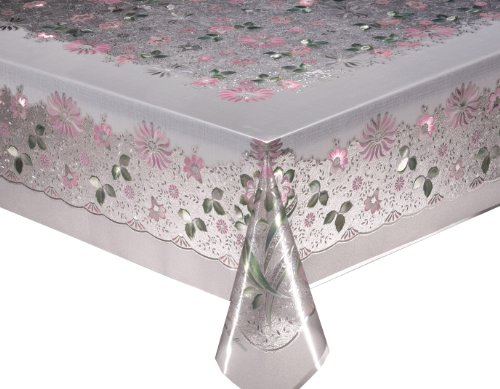 MEIWA tablecloth (one product) pulley Reference Series Naples 120cm ~ 150cm pink