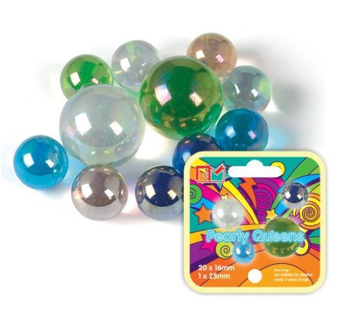 King Marbles KM038 Pearly Queens Classic Marbles-Multicolor Great Gizmos