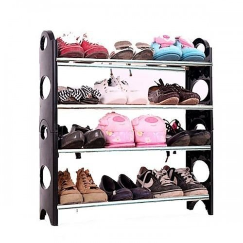 Glive S Portable Multi Utility Shoe Rack Organizer Shoe Rack Shoe Shelf Shoe 12 Pair Shoes Storage Cabinet 4 Layer Amazon In Home Kitchen